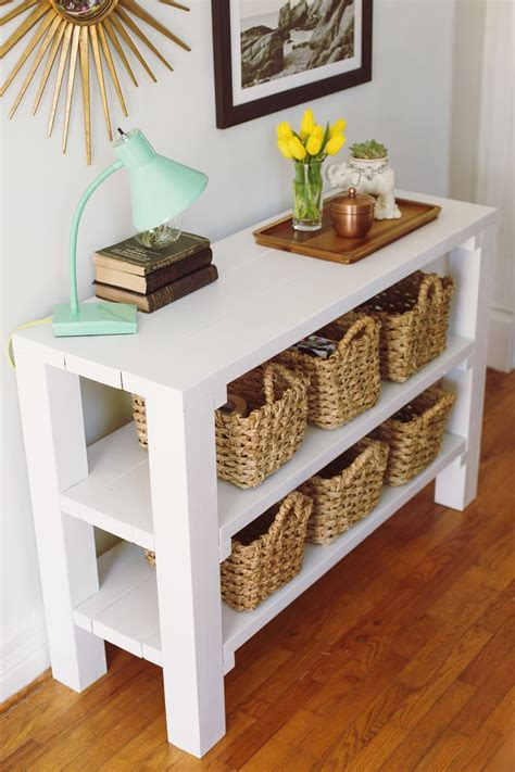 How To Make An Entryway Table by 8 Gorgeous Entryway Tables You Can Make On A Budget