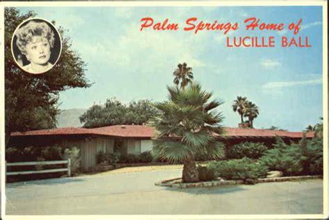palm springs home  lucille ball california