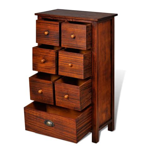 wooden cabinet with drawers vidaxl co uk wooden cabinet brown with 7 drawers
