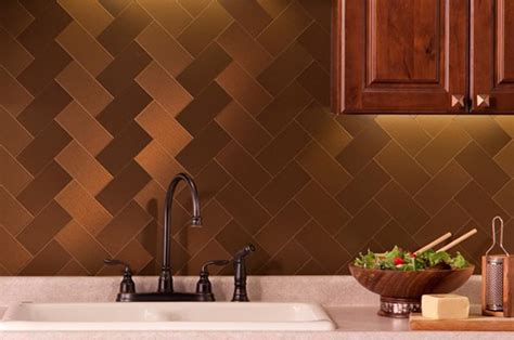 Metallic Backsplash Tiles Peel Stick : Smart Kitchen Designs With Peel And Stick Kitchen