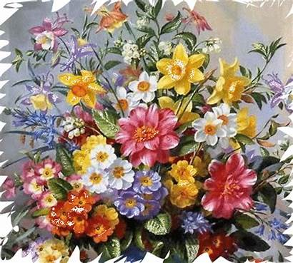 Wreath Flowers Floral Gifs Flores Garden Cinta