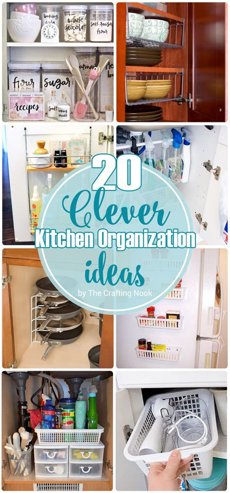 kitchen organizing solutions 20 clever kitchen organization ideas the crafting nook 2385