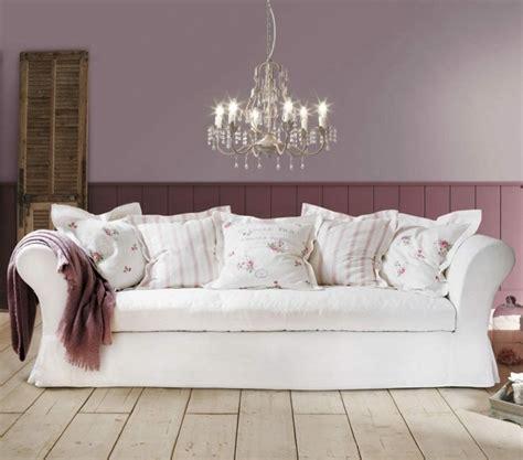 canapé style cagne chic shabby chic style 55 idées pour un intérieur romantique