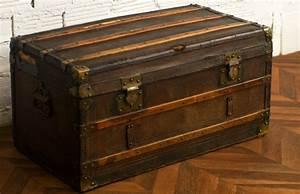 Coffre De Voyage : coffre malle valise voyage diligence ancienne r tro vintage cuir bois meubles ~ Medecine-chirurgie-esthetiques.com Avis de Voitures