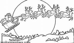 santa and reindeer coloring pages printable - santa and reindeer coloring pages printable many