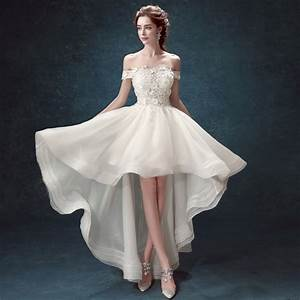 short front long back wedding dress with short sleeve With elegant short wedding dresses