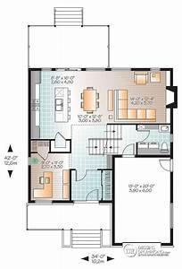 w3470 modele contemporain 3 a 4 chambres bureau foyer With plan maison demi niveau 4 maison familiale 8 detail du plan de maison familiale 8