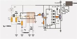 Infrared Remote Controlled Door Lock Circuit