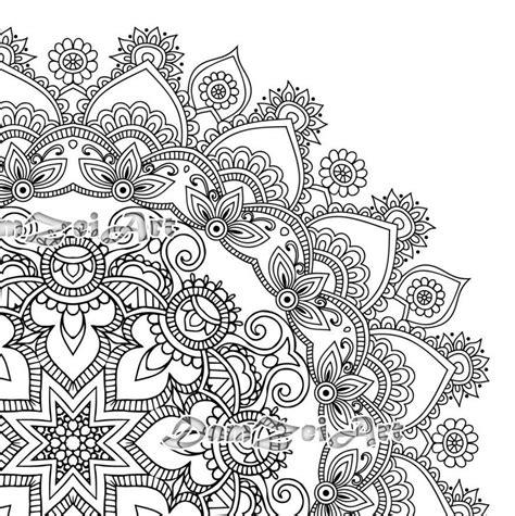 mandala coloring pages printable  blank mandala designs
