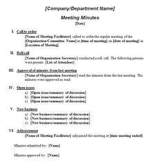 formal meeting minutes template  vertex