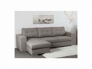 canape angle reversible convertible simili taupe tenerife With canapé d angle réversible et convertible en simili cuir coleen