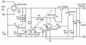 2n3055 variable power supply circuit circuit wiring diagrams With simple power supply variable voltage 0 15v max output 1a
