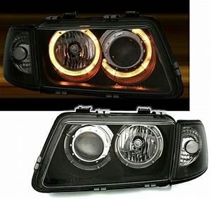 Audi A3 Phase 2 : 2 feux phare avant noir angel eyes audi a3 8l phase 1 de ~ Medecine-chirurgie-esthetiques.com Avis de Voitures