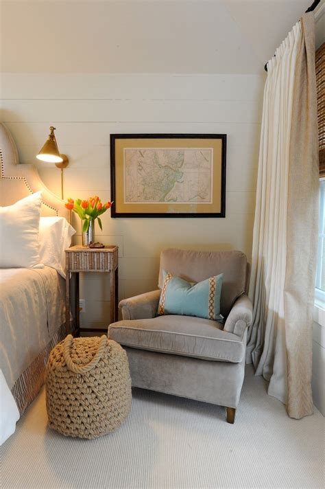 Bedroom Table Ls by A Cozy Club Chair Adds Warmth To A Master Bedroom Chair