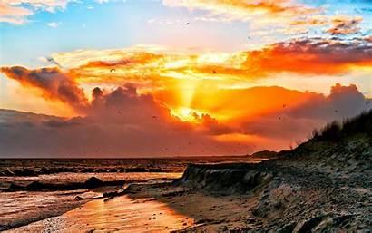Scene Sunset Pc Wallpapers Beach Scenes Nature