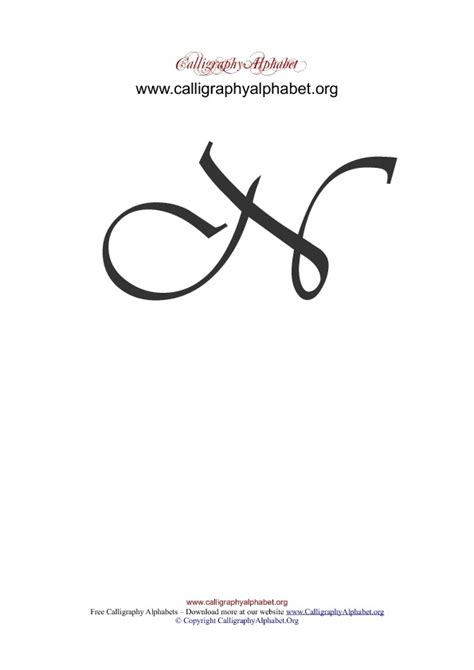 uppercase calligraphy alphabets