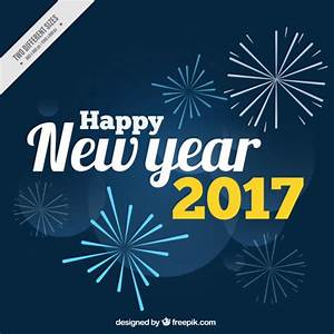 Happy new year 2017 background with fireworks Vector ...