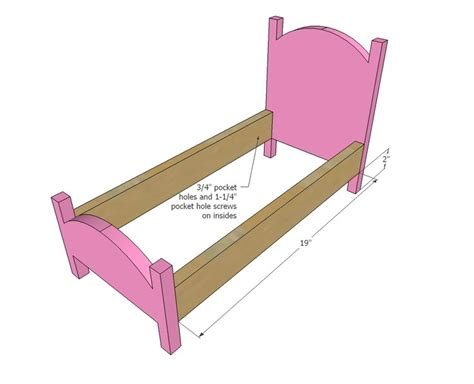 ana white build  vintage style american girl doll bed