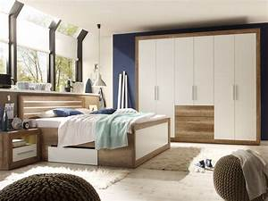 Schlafzimmer Komplett Weiß : nando komplett schlafzimmer canyon oak weiss ~ Orissabook.com Haus und Dekorationen