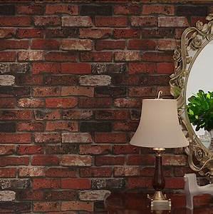 Deep Embossed 3D Brick Wall Paper Modern Vintage Brick ...