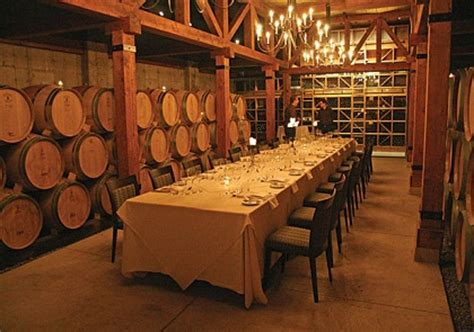 underground barrel cellar dinners winery tours  niagara