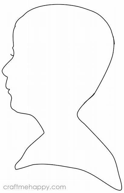 Silhouette Profile Cut Princess Face Templates Outline