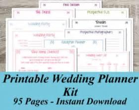 free printable wedding planner wedding planner etsy