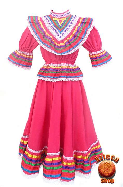 Mexican Jalisco Folklorico Pink Dress Size 8 Vestidos