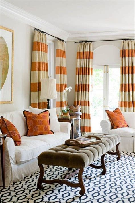 orange striped curtains 25 cool living room curtain ideas for your farmhouse