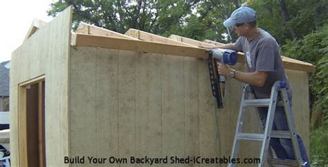 how to build a roof on a shed how to build a shed build the shed roof