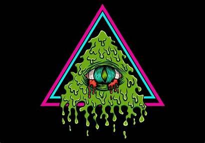 Illuminati Vector Bleeding Eye Illustration Symbols Pyramid