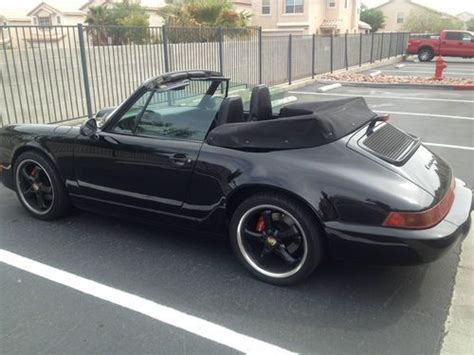 porsche 911 convertible black sell used porsche 911 convertible 964 black black black