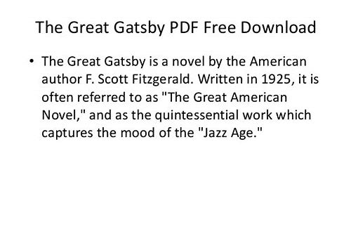 great gatsby pdf download