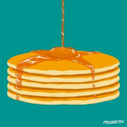 Breakfast Syrup Animation Flapjack Def Giphy Pancake
