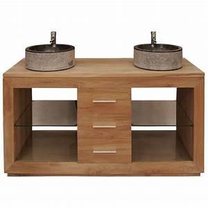 table rabattable cuisine paris meuble bois sous vasque With meuble lavabo bois massif 7 meuble sous vasque simple vasque en bois teck massif