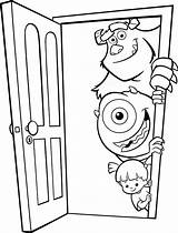Coloring Door Inc Mike Boo Monster Pages Monsters Sulley Wazowski Colouring Doors Sullivan Disney Colorear Para James Takes Coloringpagesfortoddlers Soft sketch template