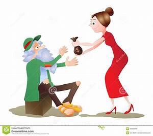 Charity for beggar stock illustration. Illustration of ...