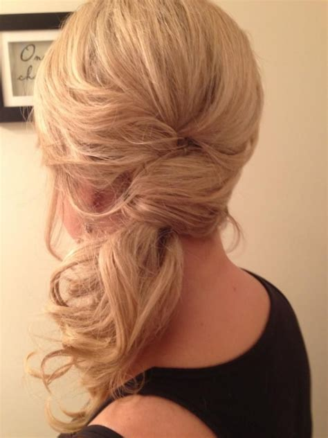 hot side ponytail hairstyles romantic sleek sexy
