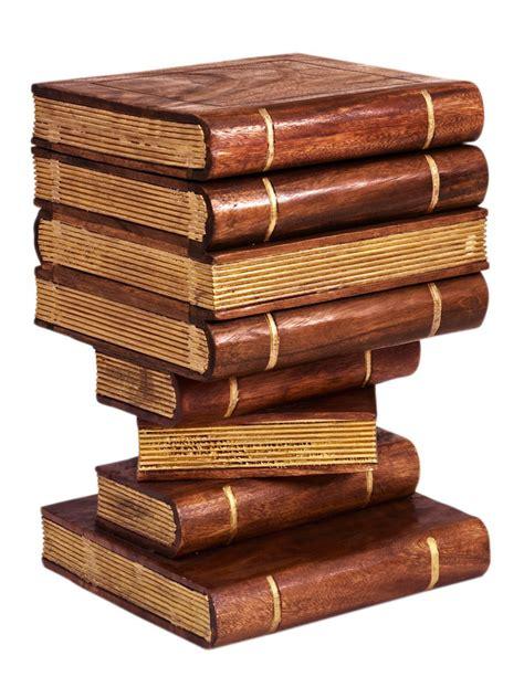 canap original bout de canapé original en bois trompe l 39 oeil livres