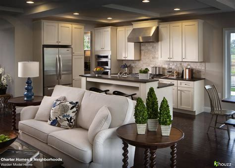 Beautiful Open Kitchen And Living Room Area Love The Feel