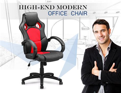 racing sport style office chair pu leather executive work