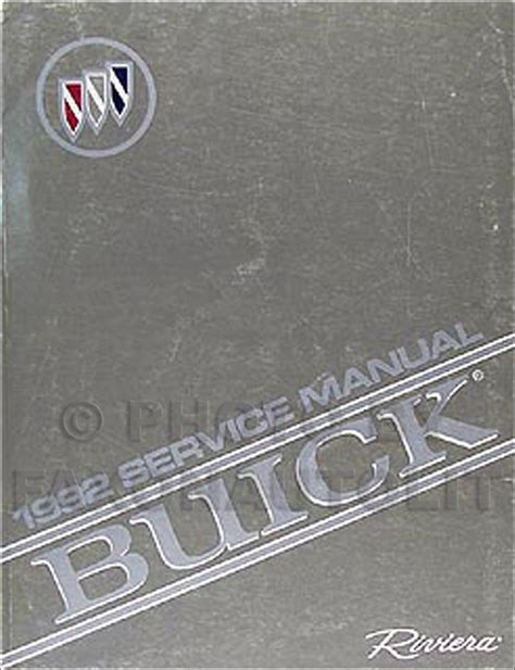 car manuals free online 1992 buick riviera auto manual 1992 buick riviera repair shop manual original