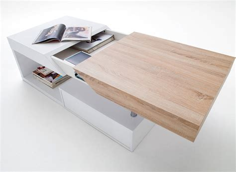 table rabattable cuisine table basse blanc laque et