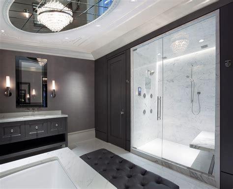average size master  glass shower doors bathroom