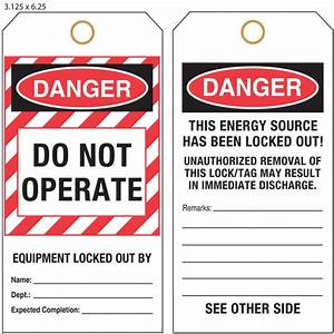 Custom Lock Out Tag Out Tags  Loto