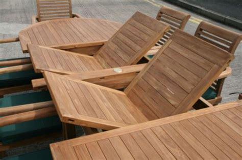 monaco teak garden furniture set humber imports uk