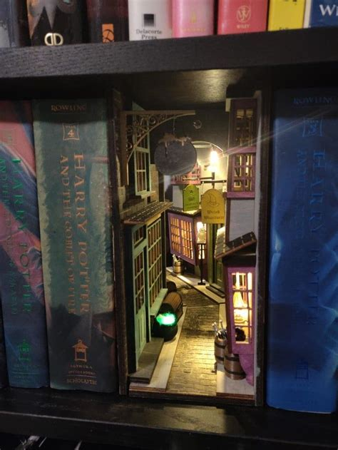 diagon alley inspired booknook booknooks   harry