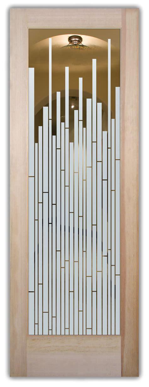 mosaics etched glass interior doors modern design