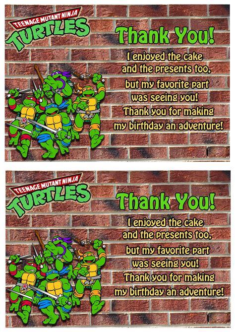 teenage mutant ninja   cards birthday printable