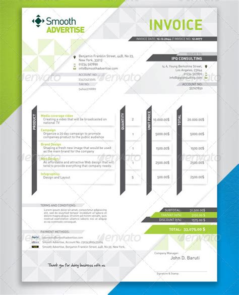 psd invoice templates  freelancer bashooka